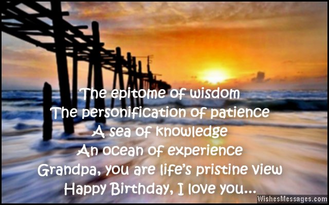 birthday message for my grandfather ; Sweet-birthday-greeting-card-wishes-for-grandpa