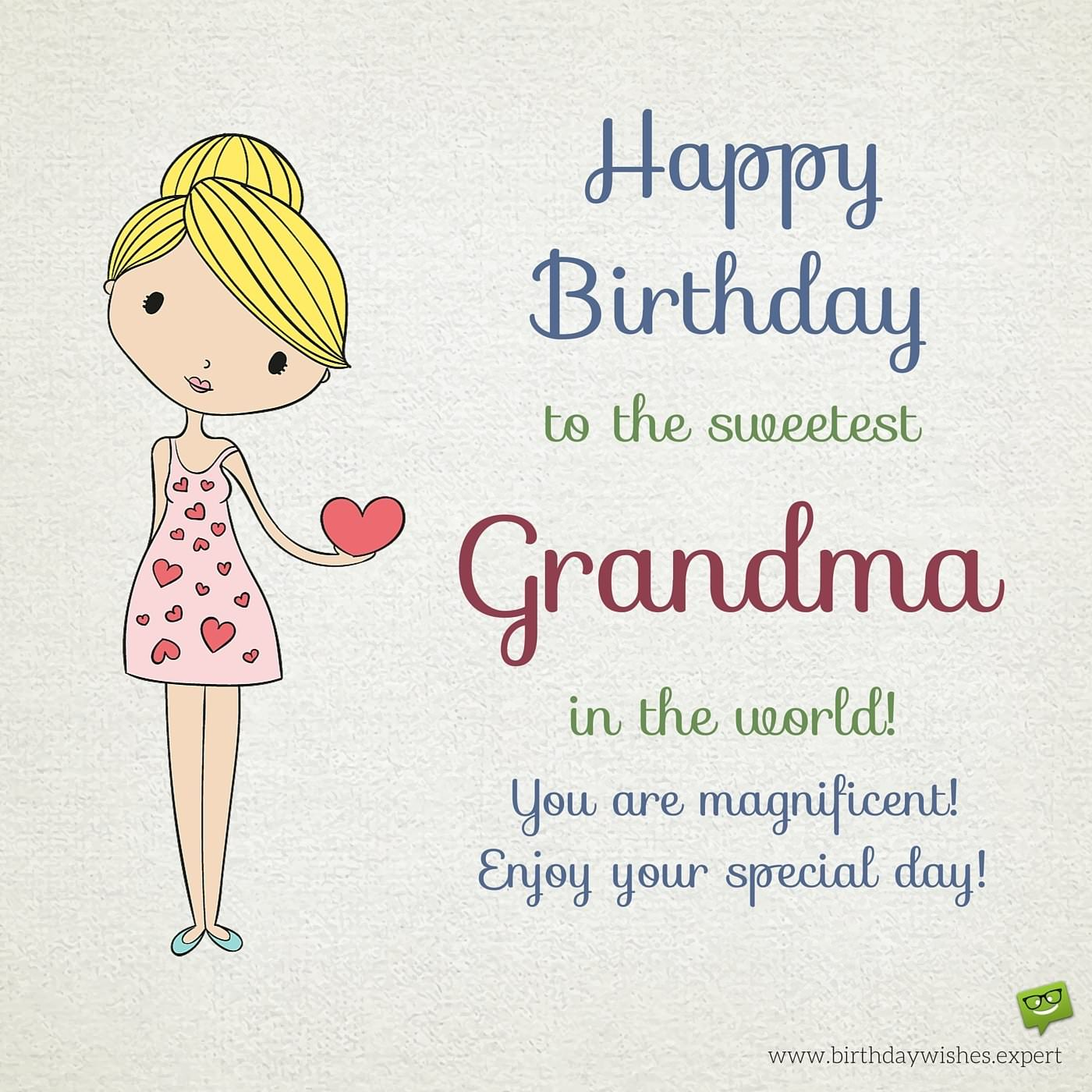 birthday message for my lola ; Cute-Birthday-wish-for-best-grandma-in-the-whole-world