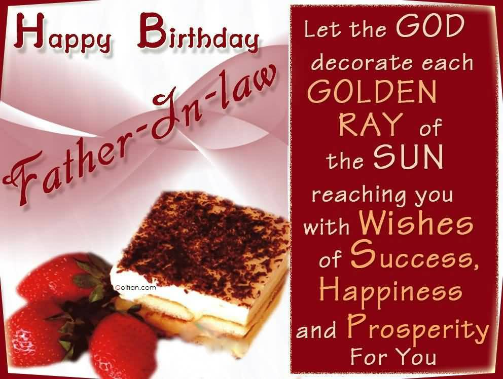 birthday message for papa in hindi ; Awesome-Cake-With-Strawberry-Birthday-Wishes-For-Father-In-Law