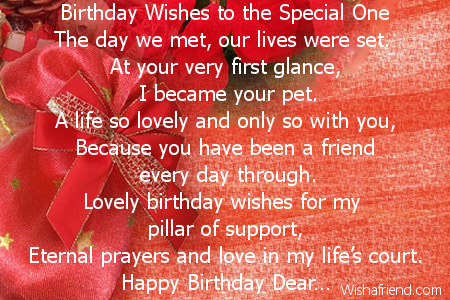 birthday message for special one ; 2010-husband-birthday-poems