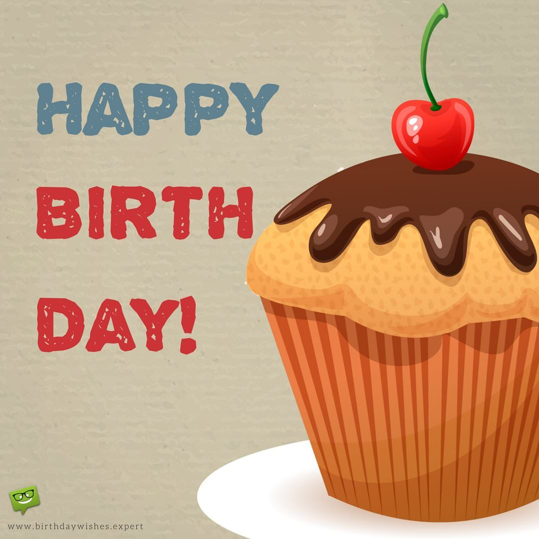 birthday message greetings to a friend ; Happy-Birthday-wish-for-a-friend-on-image-of-huge-delicious-cup-cake-1