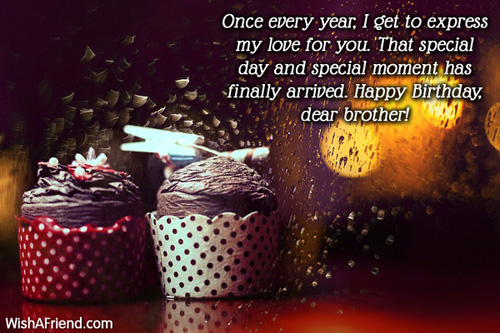 birthday message to a dear brother ; 1089-brother-birthday-wishes