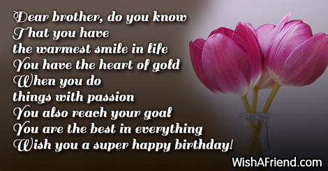 birthday message to a dear brother ; 13123-brother-birthday-wishes