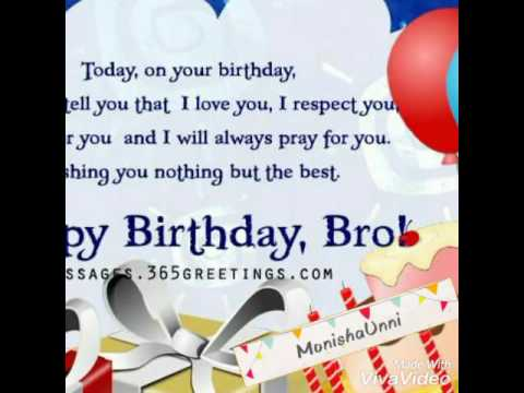 birthday message to a dear brother ; hqdefault