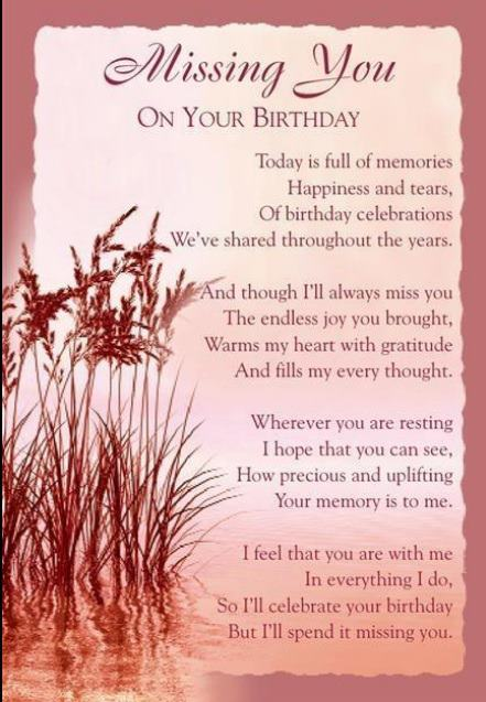 birthday message to a deceased mother ; RIPMom0