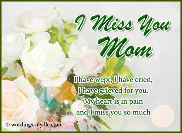birthday message to a deceased mother ; missing-you-messages-for-mother-who-died