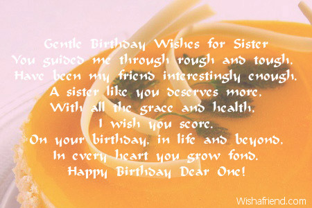 birthday message to a little sister ; 2014-sister-birthday-poems