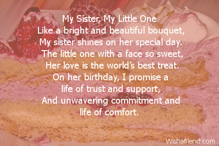 birthday message to a little sister ; 2463-sister-birthday-poems