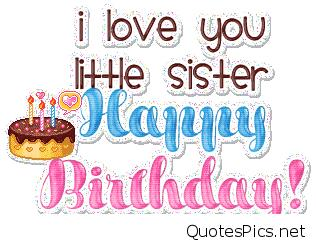 birthday message to a little sister ; birthday-wishes-little-sister