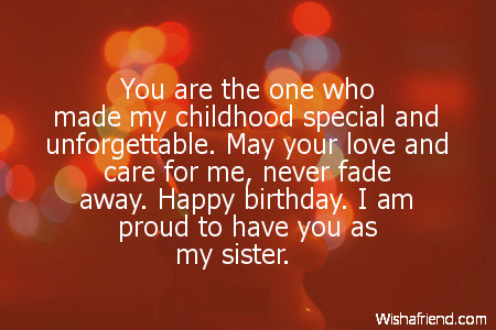 birthday message to a little sister ; sister-birthday-wishes