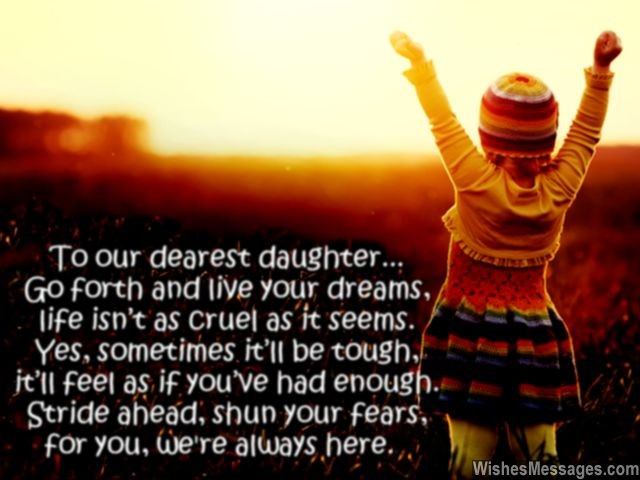 birthday message to a mother from her daughter ; To-our-dearest-daughter