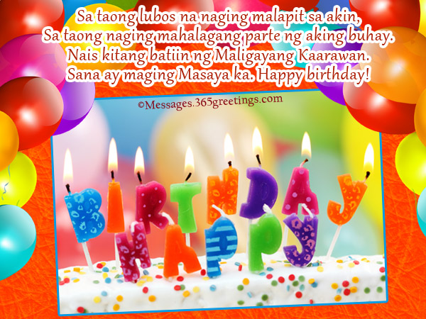 birthday message to a son tagalog ; best-birthday-wishes-in-tagalog
