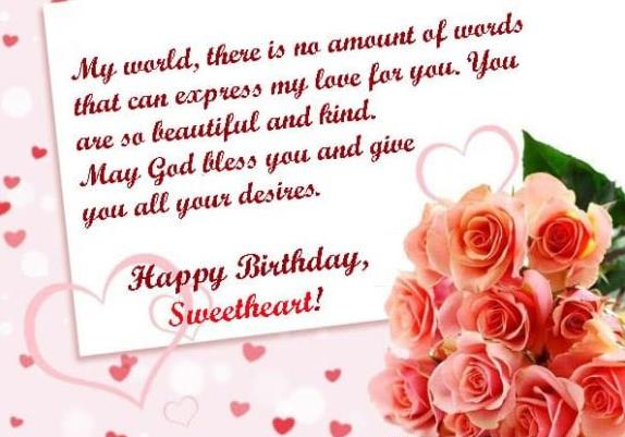 birthday message to a sweetheart ; Love-Birthday-Wishes
