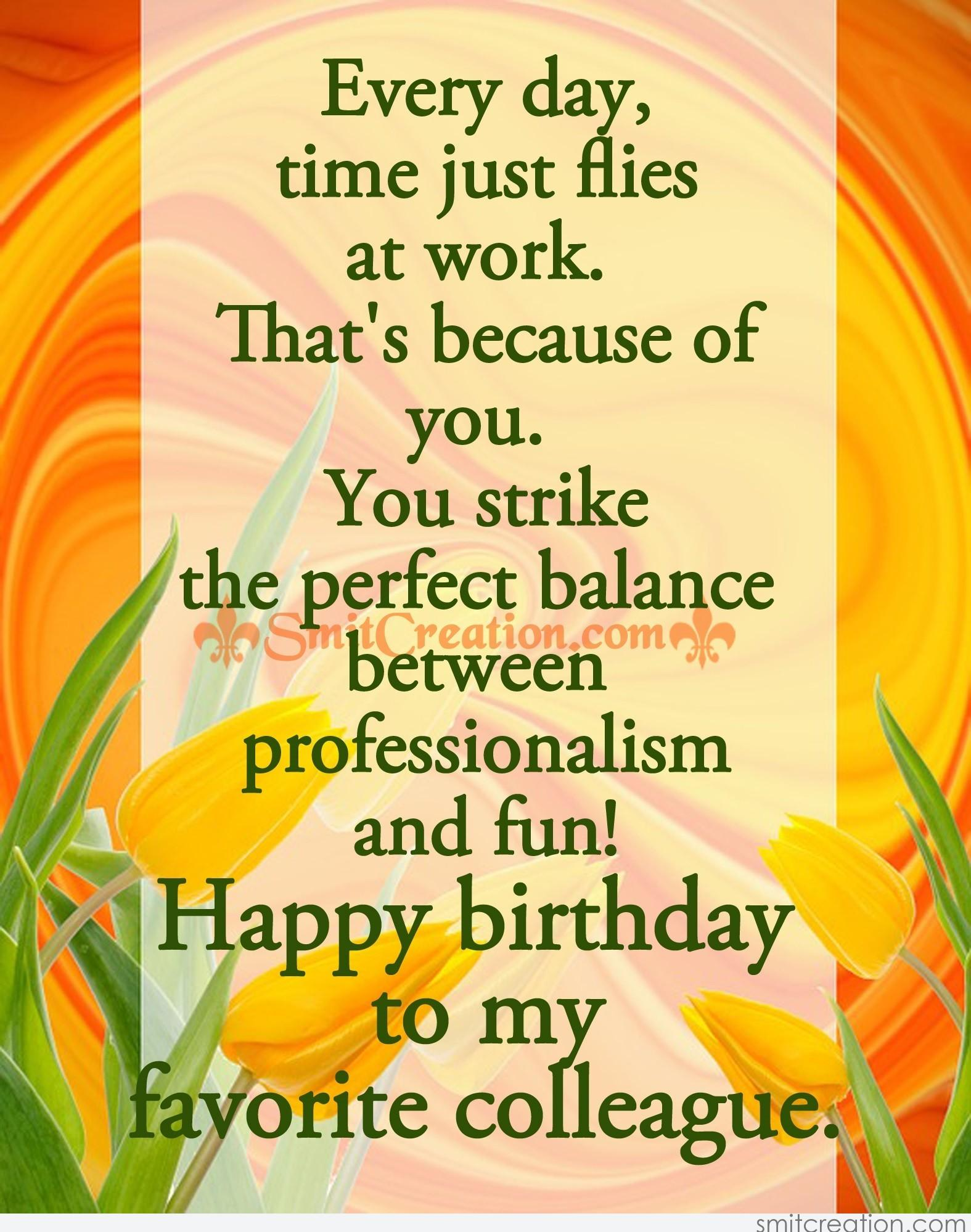birthday message to a work colleague ; 5172
