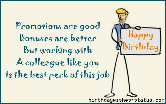birthday message to a work colleague ; 7bae6a69f3a58d50243650ee06bccf53