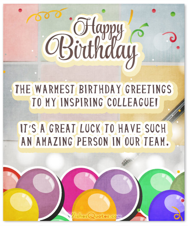 birthday message to a work colleague ; Colleague-Birthday-Wishes-Card