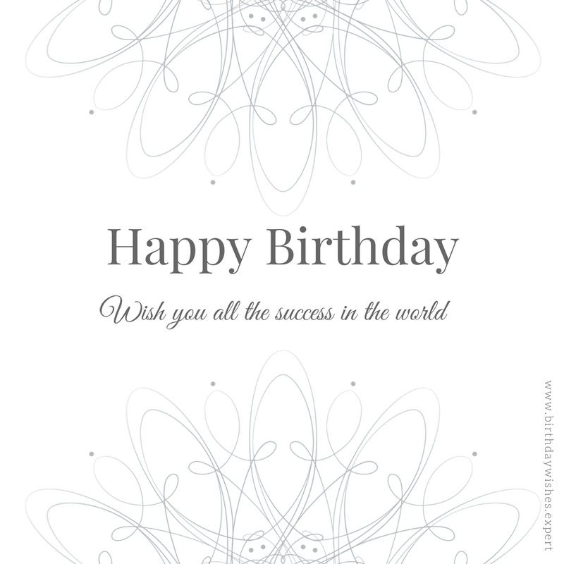 birthday message to a work colleague ; Elegant-corporate-birthday-wishes