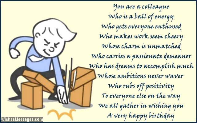 birthday message to a work colleague ; Inspirational-birthday-card-poem-for-colleagues