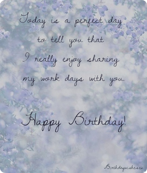 birthday message to a work colleague ; birthday-quotes-for-colleague-female