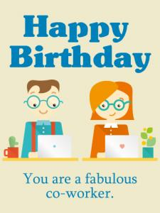 birthday message to a work colleague ; co-worker-225x300