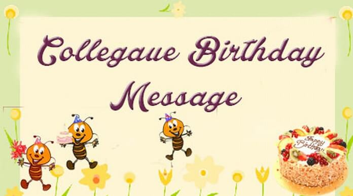 birthday message to a work colleague ; collegaue-birtday-message