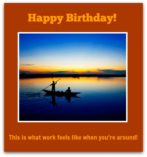 birthday message to a work colleague ; xWorking2