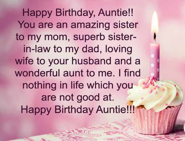 birthday message to aunt in law ; Best-Aunt-Birthday-Wishes-Greeting-E-Card-With-Candle-Cupcake