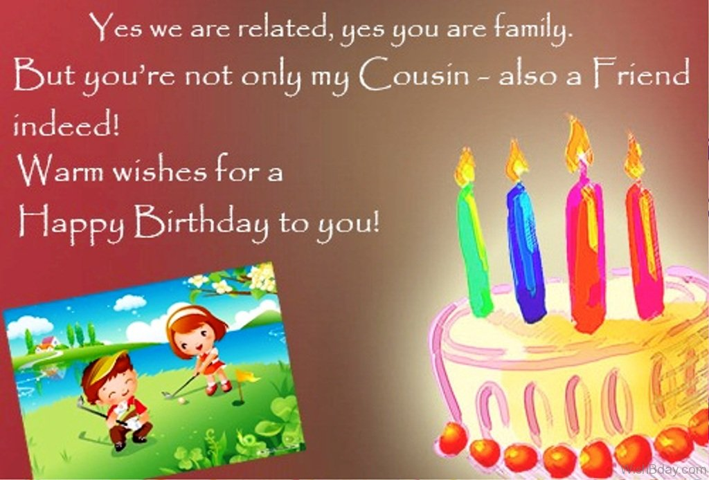 birthday message to my childhood friend ; You-We-Are-Related-Yes-You-Are-Family