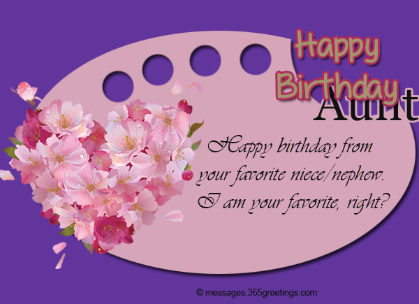 birthday message to my favorite aunt ; birthday-wishes-for-aunt-06