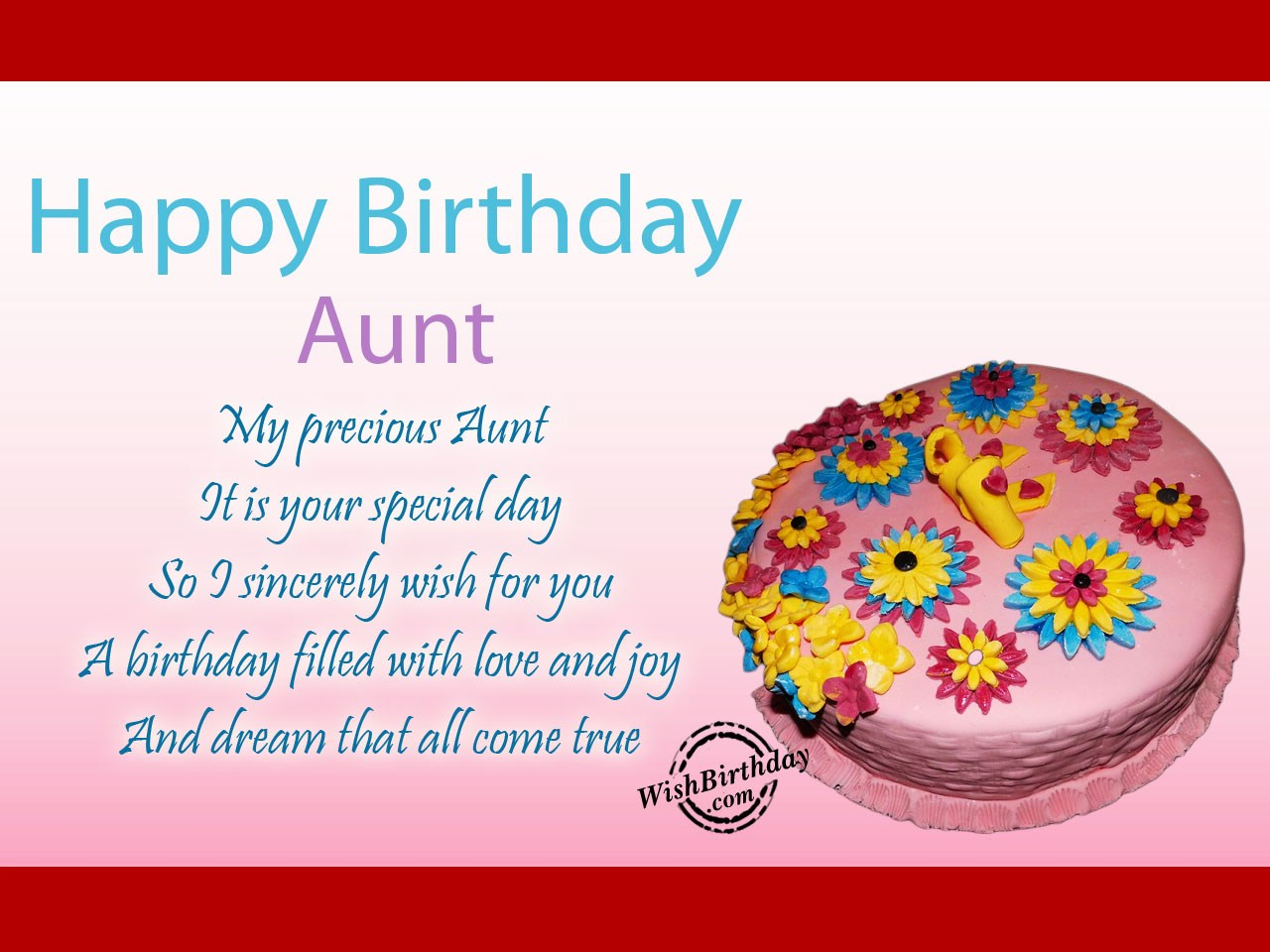 birthday message to my favorite aunt ; birthday-wishes-for-aunt-33