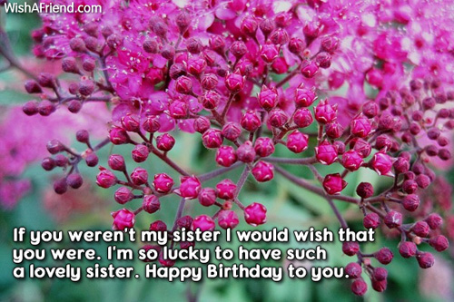 birthday message to my lovely sister ; 540-sister-birthday-messages