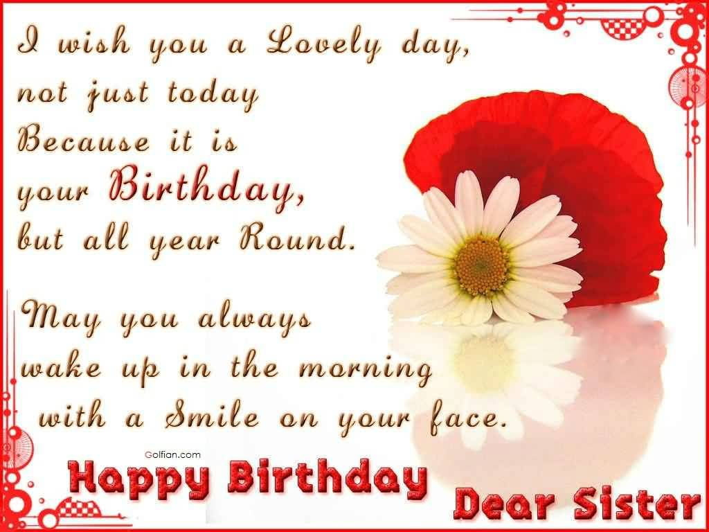 birthday message to my lovely sister ; Nice-Message-Birthday-Wishes-For-Dear-Sister-Greetings