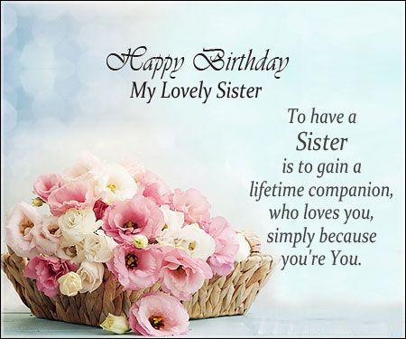 birthday message to my lovely sister ; b611dfa244035f91e278243621055ceb