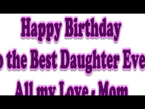 birthday message to my only daughter ; 1140e974be70eeebf7b13e8f76c9aa4a
