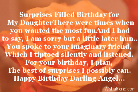 birthday message to my only daughter ; 2019-daughter-birthday-poems