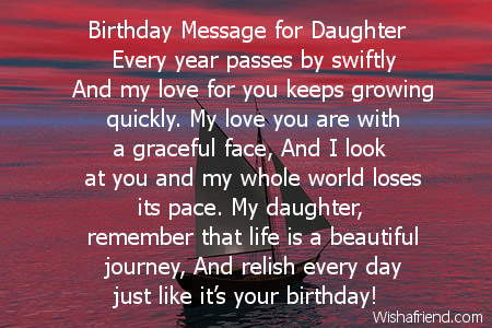 birthday message to my only daughter ; 2465-daughter-birthday-poems