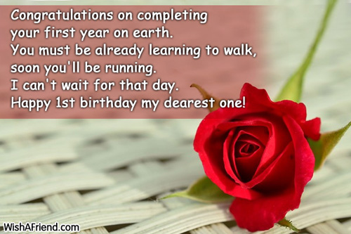 birthday message to my only daughter ; 541-1st-birthday-wishes