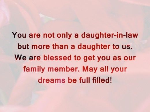 birthday message to my only daughter ; You-Are-Not-Only-A-Daughter-In-Law-But-More-Than-A-Daughter-To-Us
