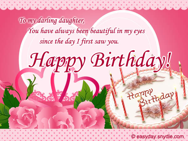 birthday message to my only daughter ; daughter-birthday-wishes