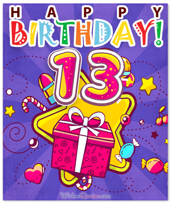 birthday message to my son turning 13 ; 13th-Birthday-Wishes-Card