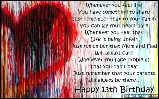 birthday message to my son turning 13 ; Sweet-13th-birthday-wishes-for-son-or-daughter