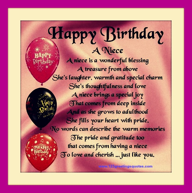 birthday message to your niece ; 9