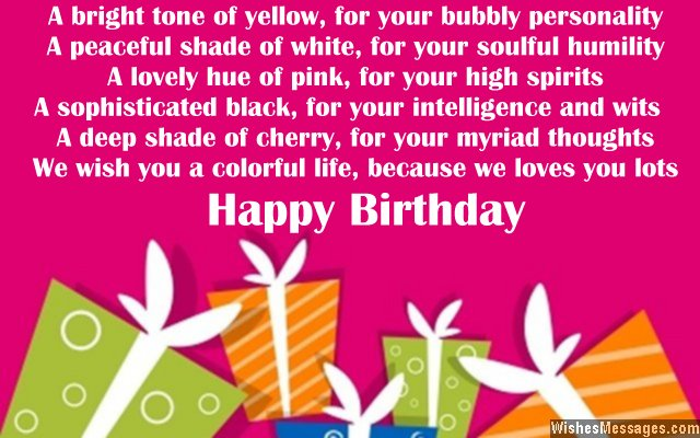 birthday message to your niece ; Cute-greeting-poem-for-a-nieces-birthday-card