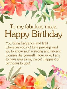birthday message to your niece ; bcbf57baeb7ee07a1bfe7fa83350d798