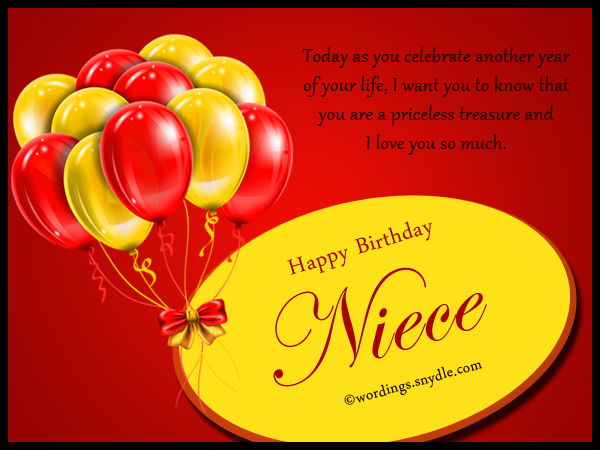 birthday message to your niece ; niece-birthday-messages