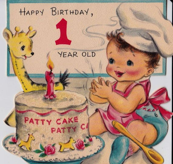 birthday one year old greeting card ; birthday-cards-for-6-year-olds-awesome-vintage-hallmark-1950-happy-birthday-1-year-old-greetings-card-b8-of-birthday-cards-for-6-year-olds