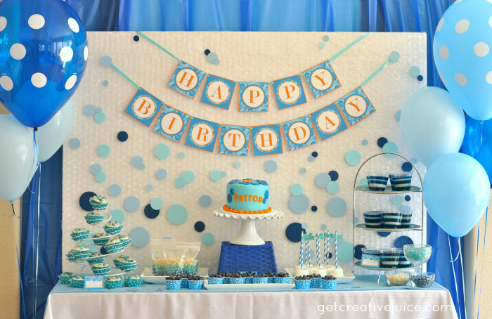 birthday party banner ideas ; bubble-birthday-party-ideas-and-decorations1