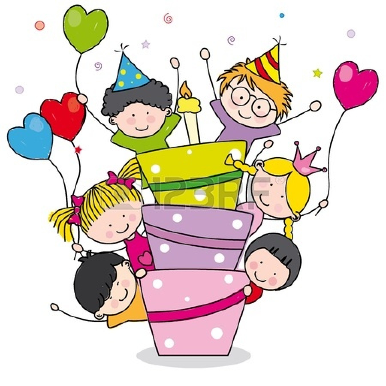 birthday party clip art pictures ; birthday-20cards-20clip-20art-14404106-birthday-card-children-at-birthday-party