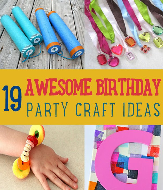 birthday party craft ideas ; 19-Awesome-Birthday-Party-Craft-Ideas