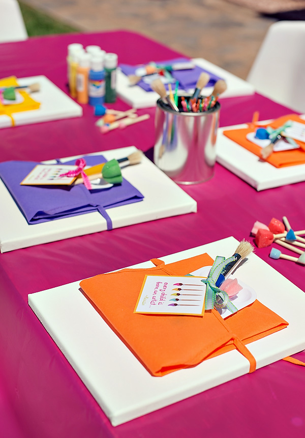 birthday party craft ideas ; paint-party1